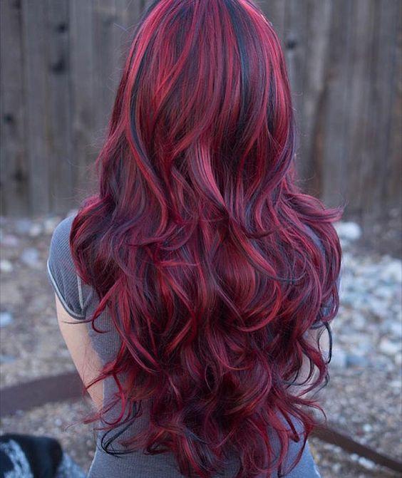 صور اللون الاحمر للشعر , هل تحبي صبغه الشعر خاصه الحمراء