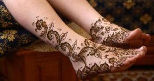 صورة حنة تونسية للعرائس , اجمل نقشات و رسومات الحنه