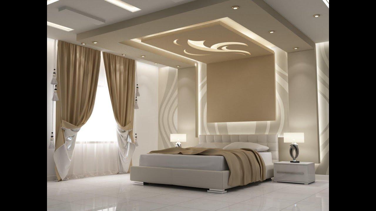 صور ديكورات جبس لغرف النوم , احدث اشكال الجبس