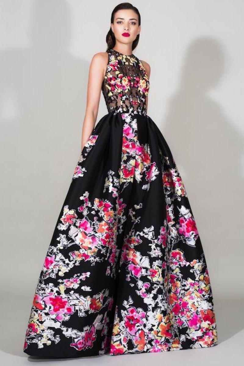 صورة موديلات فساتين تفته مشجر , اجمل الفساتين المشجرة 2020