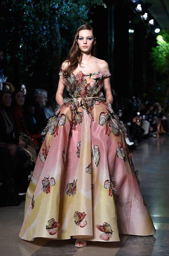 صورة موديلات فساتين تفته مشجر , اجمل الفساتين المشجرة 2020 2934 8