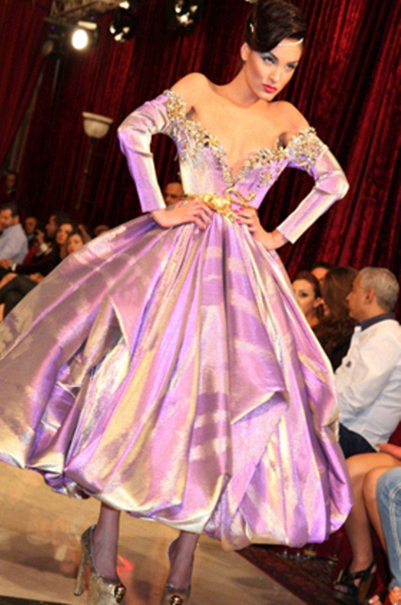 صورة موديلات فساتين تفته مشجر , اجمل الفساتين المشجرة 2020 2934