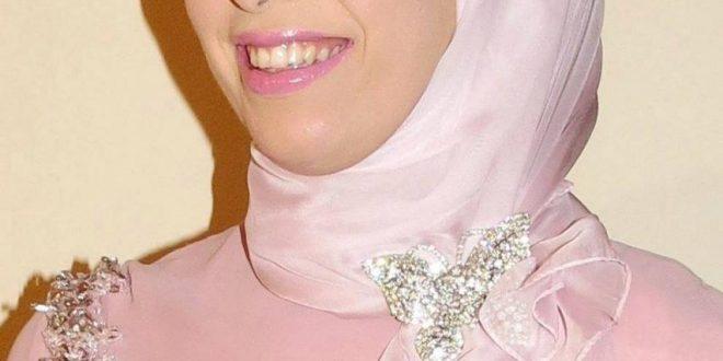 صور لفات طرح على فستان سواريه , اليكي اجمل لفات طرح