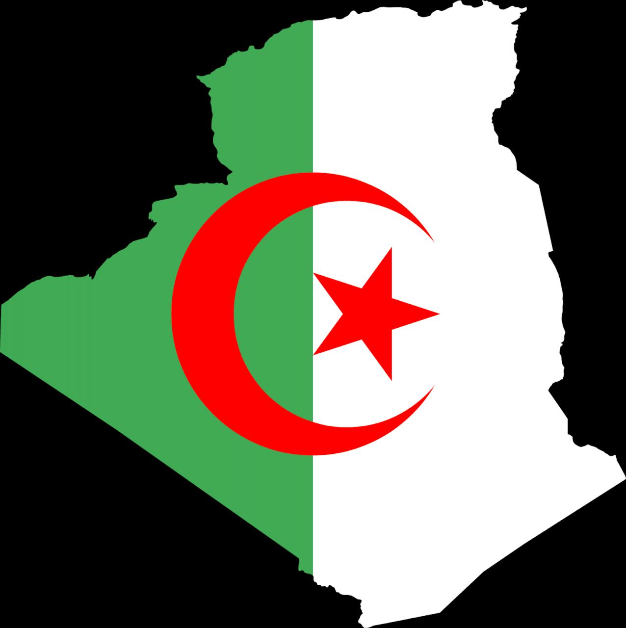 خريطة الجزائر فيها النشيد الوطني