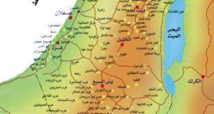 خريطة فلسطين بالتفصيل , اتعرف على فلسطين ومعالمها