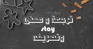 صور معنى كلمة stay , ترجمة ومعنى stay بالعربيه