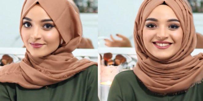 صورة طرق لف الحجاب للمدرسة , كيف اتجمل بحجابى للمدرسه