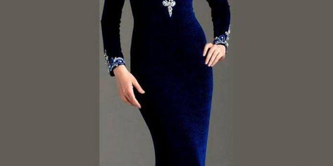 صورة اجمل فساتين مخمل , متعى حالك باروع فستان يجنن