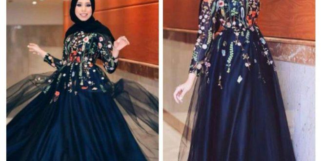 صورة فساتين محجبات للحفلات , اخطفي الانظار باشيك فستان