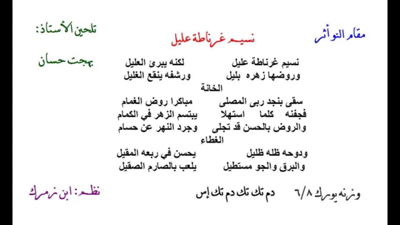 صورة شرح قصيدة نسيم غرناطة , استمتع ببلاغة التعبيرات بشرح نسيم غرناطة 3963